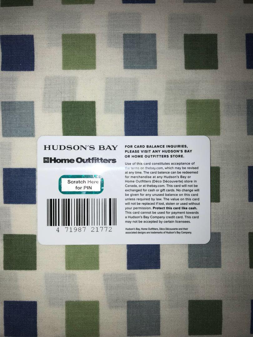 $65 HUDSON'S BAY Gift Card