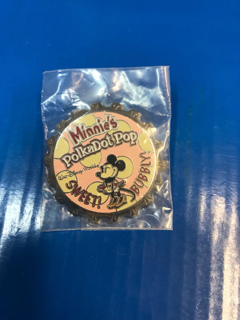 迪士尼徽章汽水蓋米妮
