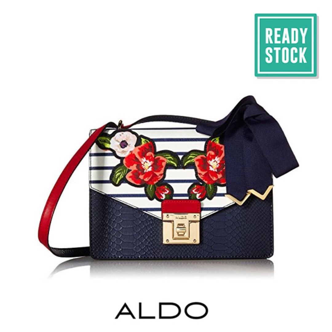 9c31d44eb72 AUTHENTIC ALDO EMBROIDERED FLORAL CROSSBODY BAG (NAVY)  READY STOCK ...