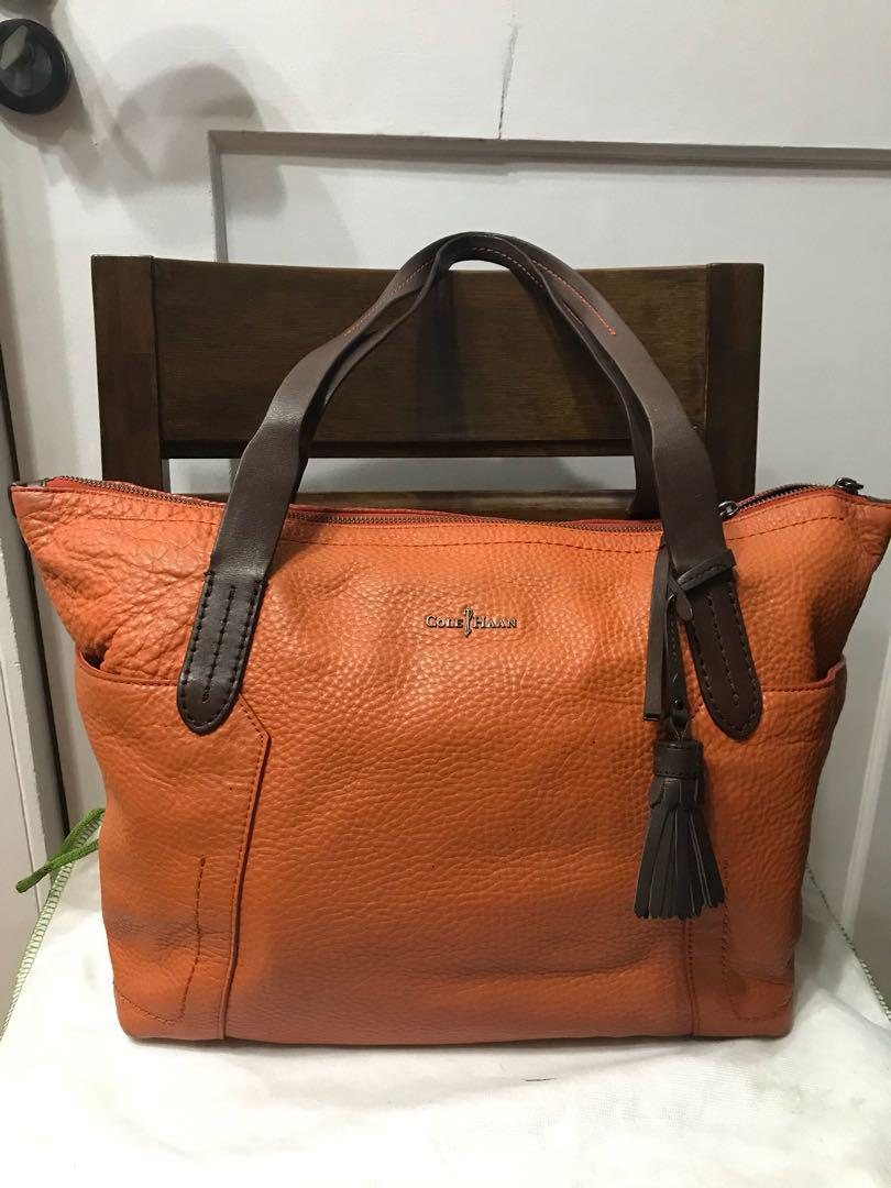 7cf83c181 Authentic Cole Haan Parker Leather Shopping Tote Bag on Carousell