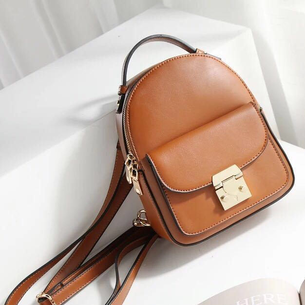0e522657eeb08 Backpack / Sling Bag 2-way small leather handbag for women woman ...