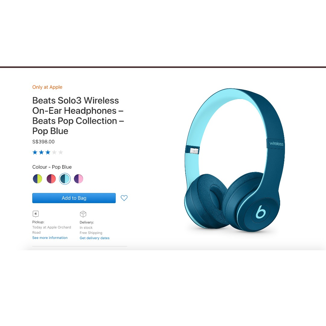 eae30d9ce12 Beats Solo3 Wireless On-Ear Headphones – Beats Pop Collection ...