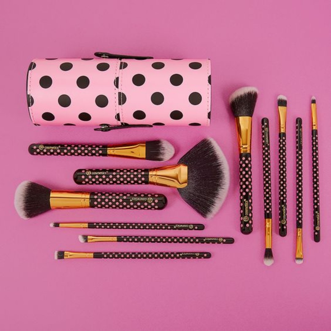 07059fef194e Bh Cosmetics 11 pc Pink-A-Dot Makeup Brush Set Ready stock