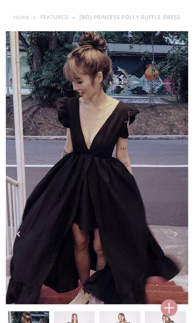 5a185719183 BNWT Kissablebella - BLACK Princess Polly Ruffle dress