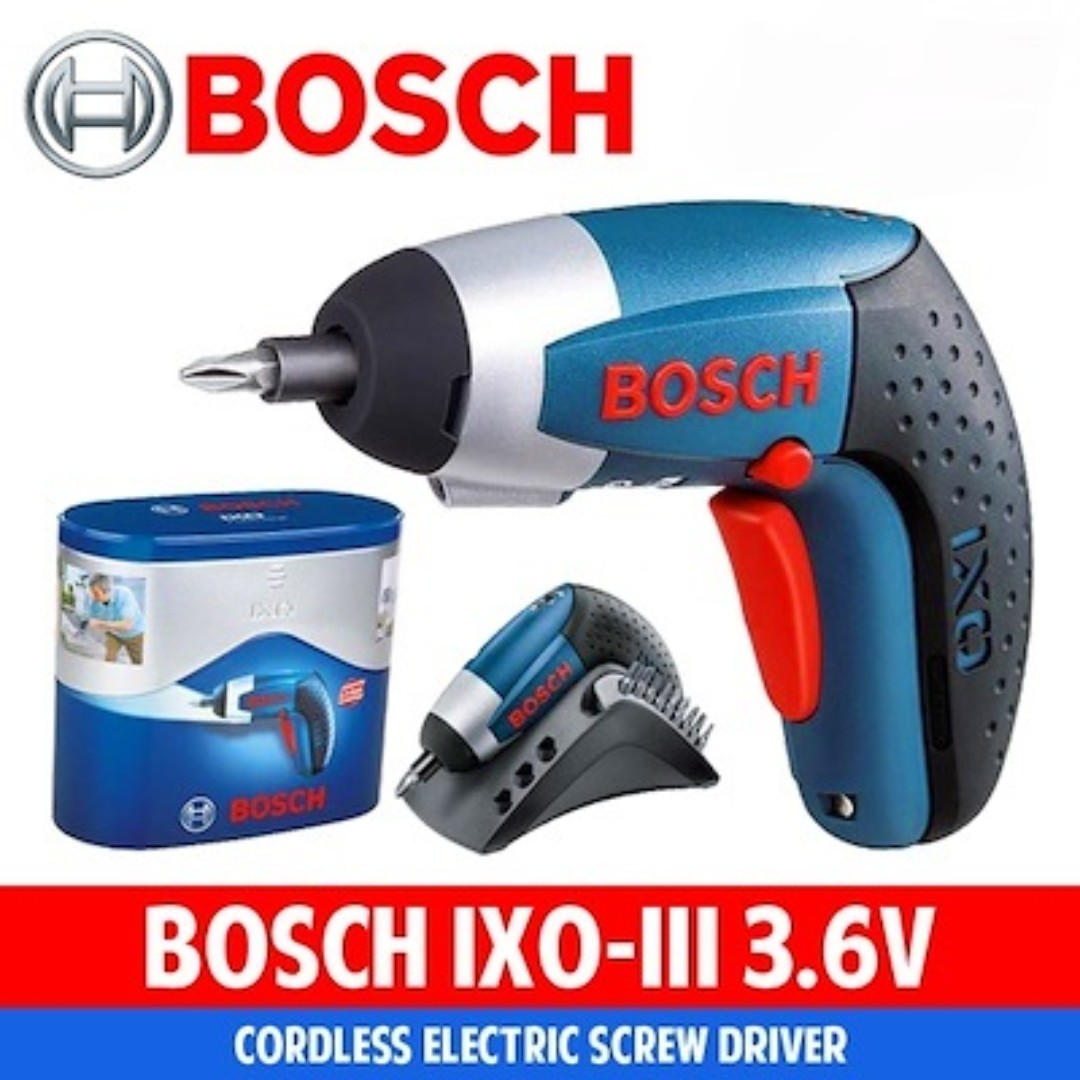 bosch ixo iii pro cordless screwdriver, electronics, others on carousell
