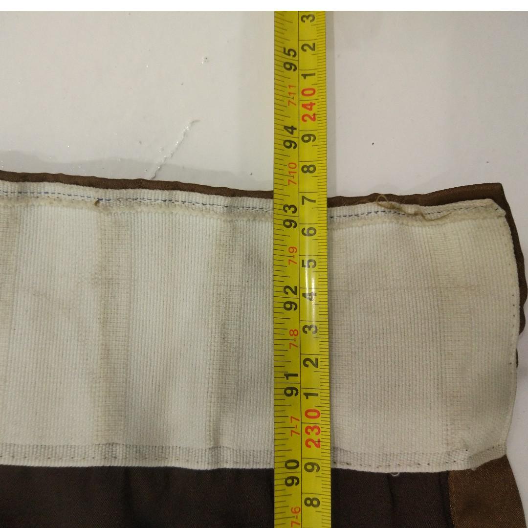 Brown Curtain ,wide 240cm,long 237cm