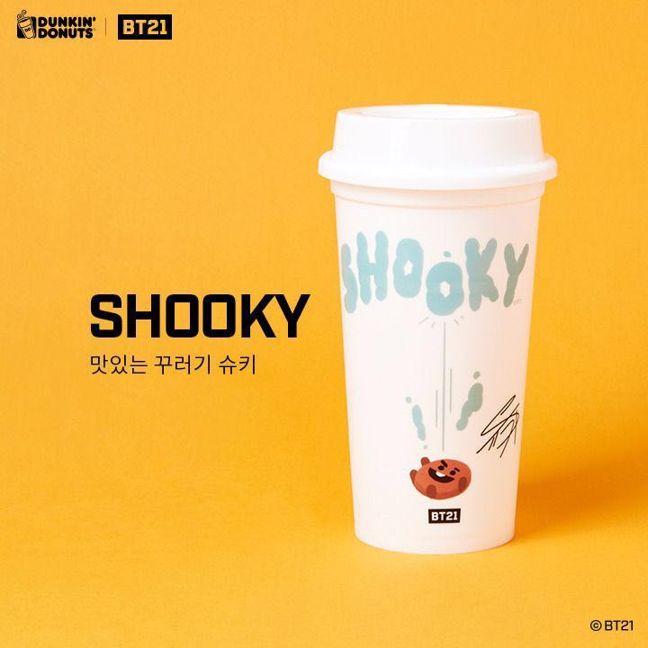 f8985dc05d1 BT21 Shooky dunkin donuts tumbler, Entertainment, K-Wave on Carousell