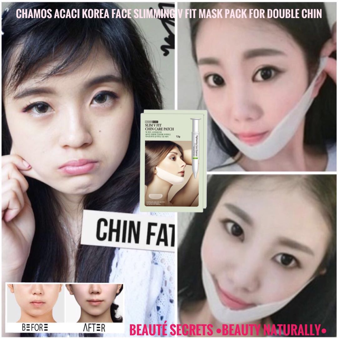Bioaqua Vshaped Mask Sheet V Shaped Shape Chamos Acaci Korea Face Slimming Fit Pack For Double Chin 1 Set 5 Pcs Health Beauty Skin Bath Body On Carousell