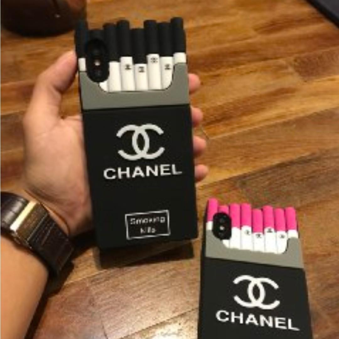 promo code 243ce 4d088 Chanel Cigarettes Black Iphone Case