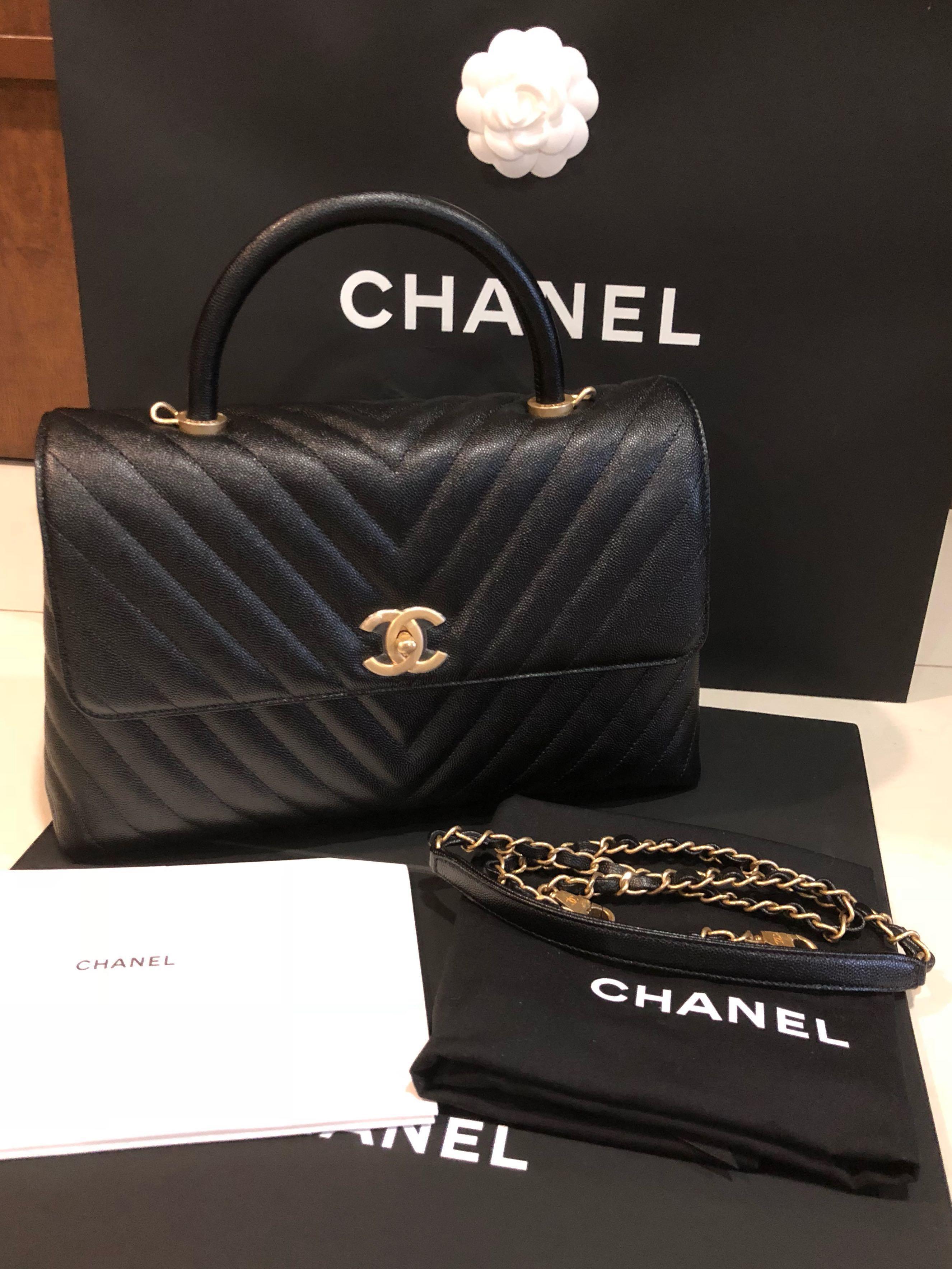 6f31f31e66baac Chanel Coco Handle Large, Luxury, Bags & Wallets, Handbags on Carousell