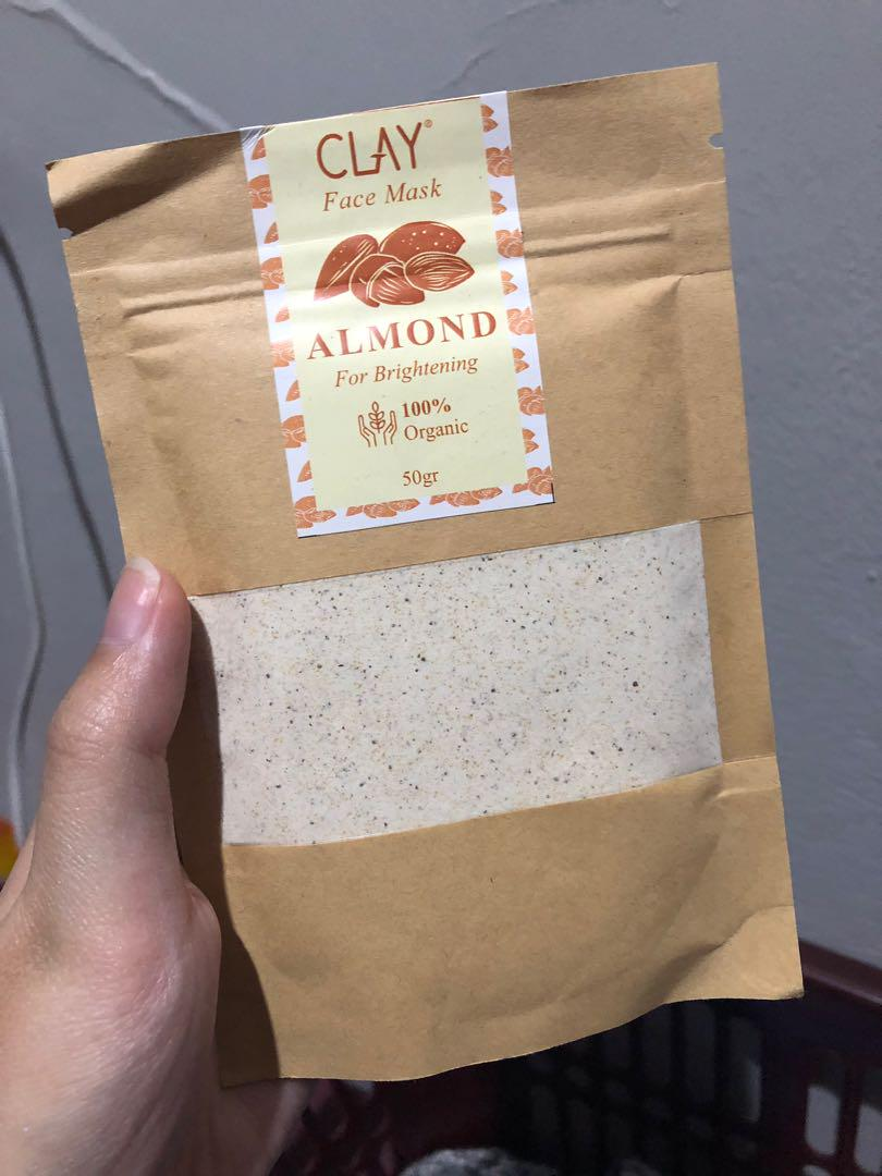 Clay face mask - almond