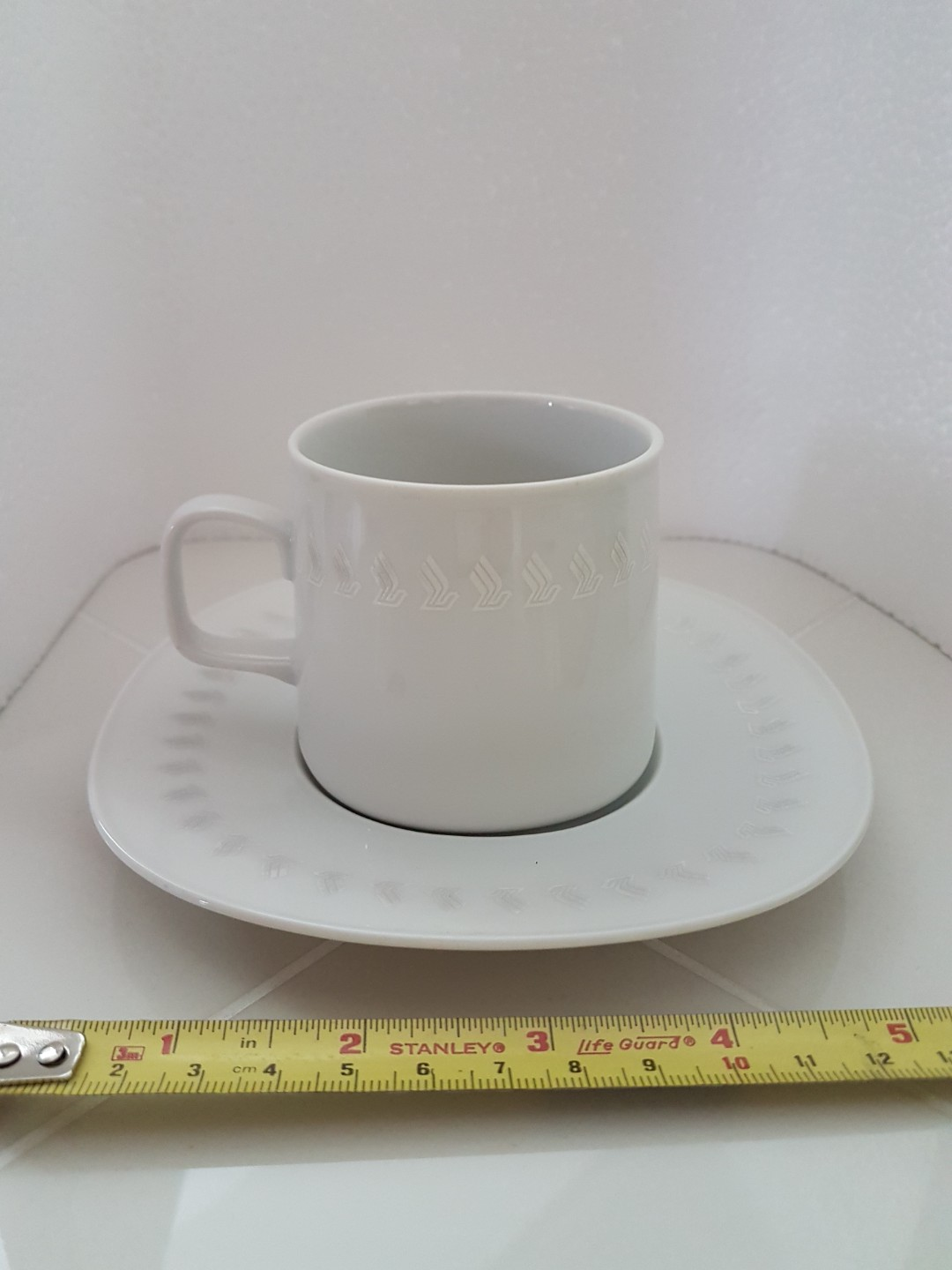 Coffee Cups With Saucers Sq Logo