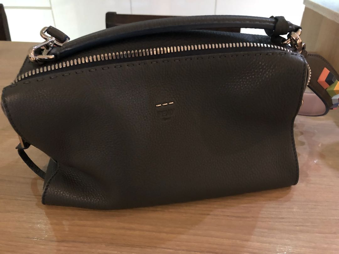 Fendi lei selleria in dark grey with optional embellished candy ... 5ca50a2b63e75