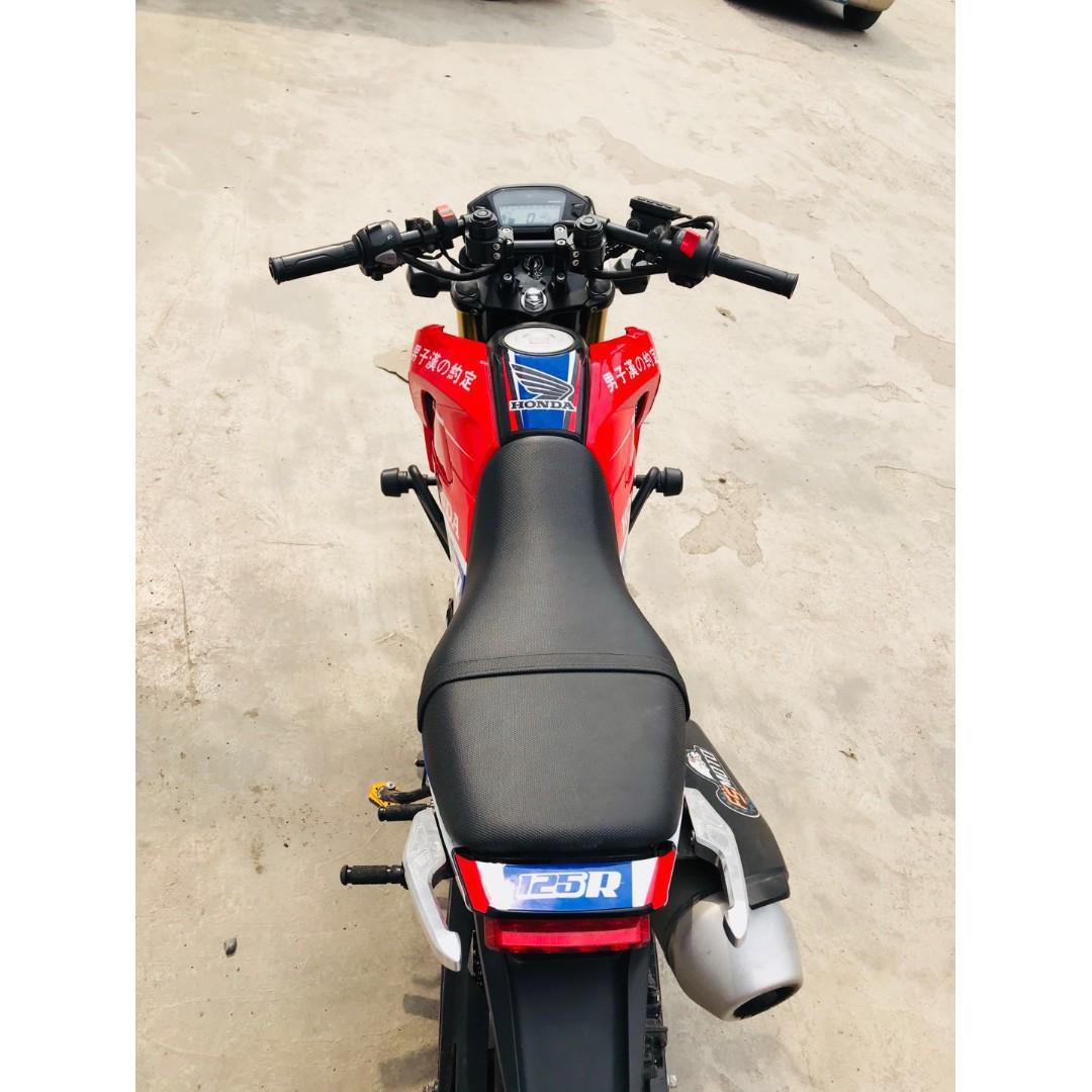 Honda grom MSX125 sticker decals racing red blue, Motorbikes
