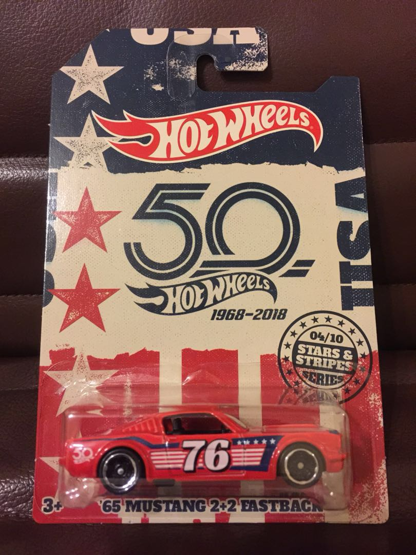 Hot Wheels 65 Mustang 2 Fastback Stars Stripes Toys Games Hotwheels 90 Honda Civic Putih Other On Carousell