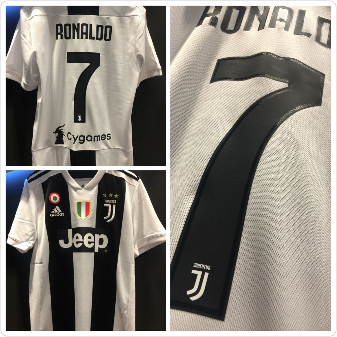 c8e8d0d37 Juventus home jersey 2018/2019 Ronaldo, Sports, Sports Apparel on Carousell