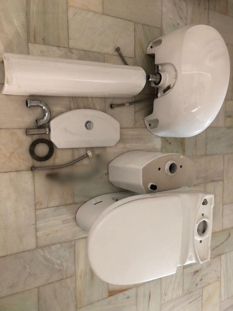 Kohler Toilet bowl and Lavatory set, Home & Furniture on Carousell