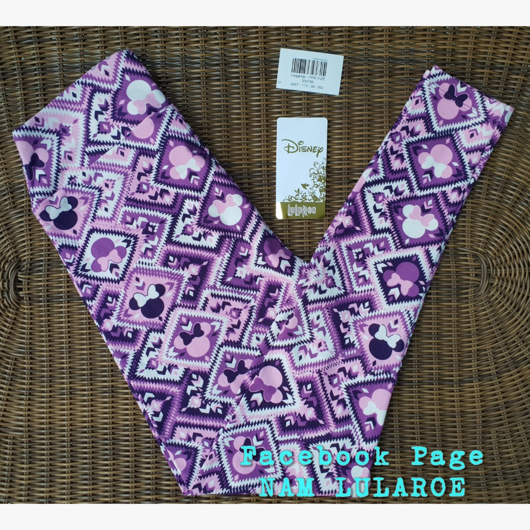 35ac212af4f61a Lularoe Disney OS Leggings - Mickey Minnie Mouse in Purple, Women's ...