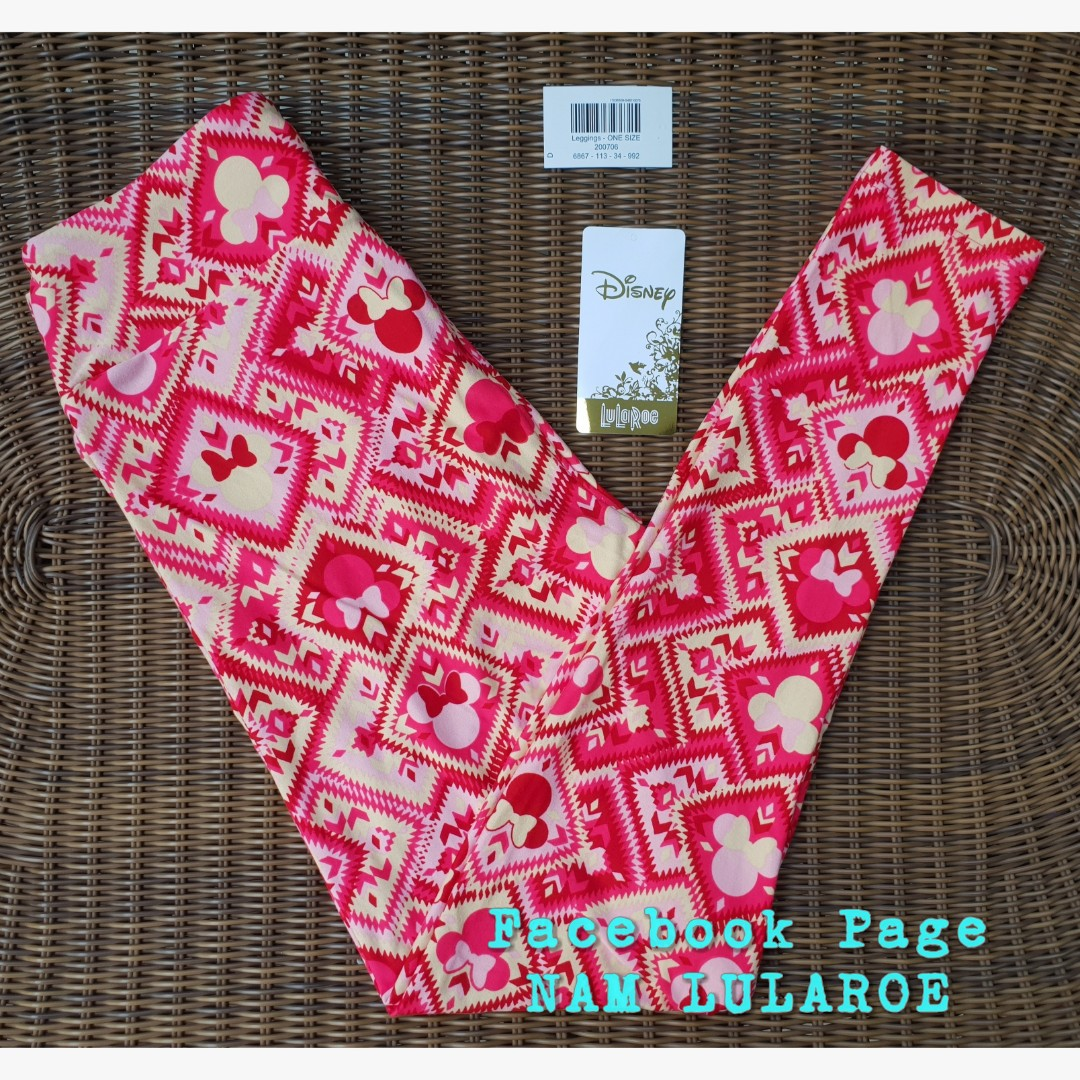 5f9270255c2c19 Lularoe Disney OS Leggings - Mickey Minnie Mouse in Red stamps ...