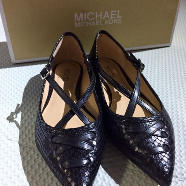 12efbaa55 Michael Kors Roselyn Ballerina Black Flat shoes