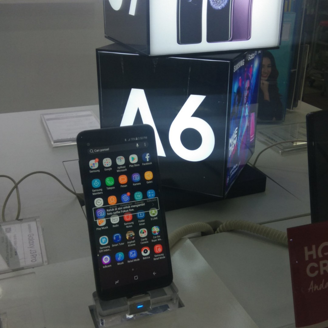 New Samsung A6 2018 Telepon Seluler Tablet Ponsel Android Di Carousell