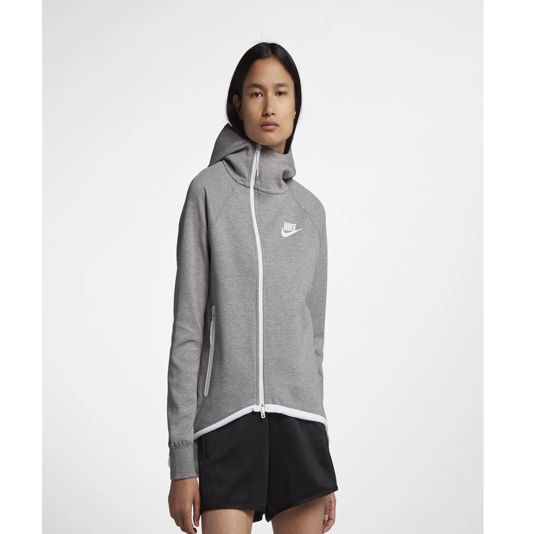 4111b4683943 Nike Sportswear Tech Fleece Women s Full-Zip Cape (Dark Grey Heather ...
