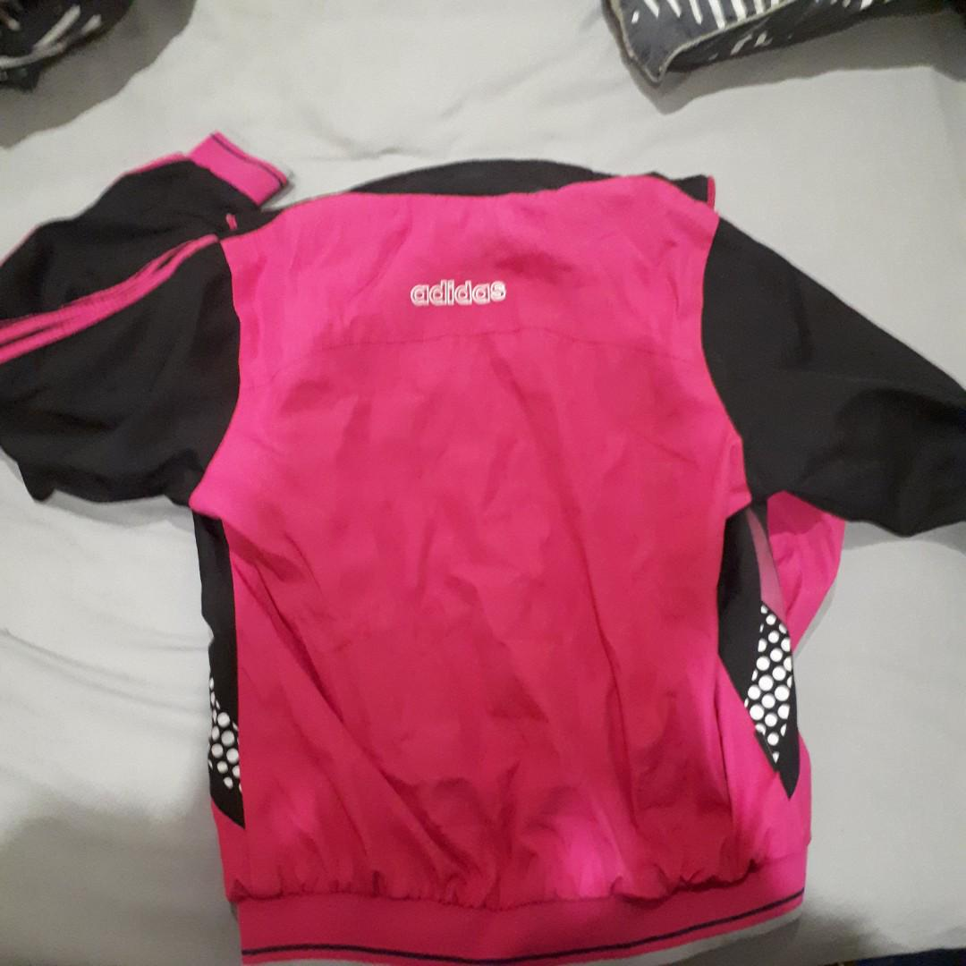Pink Adidas spray jacket