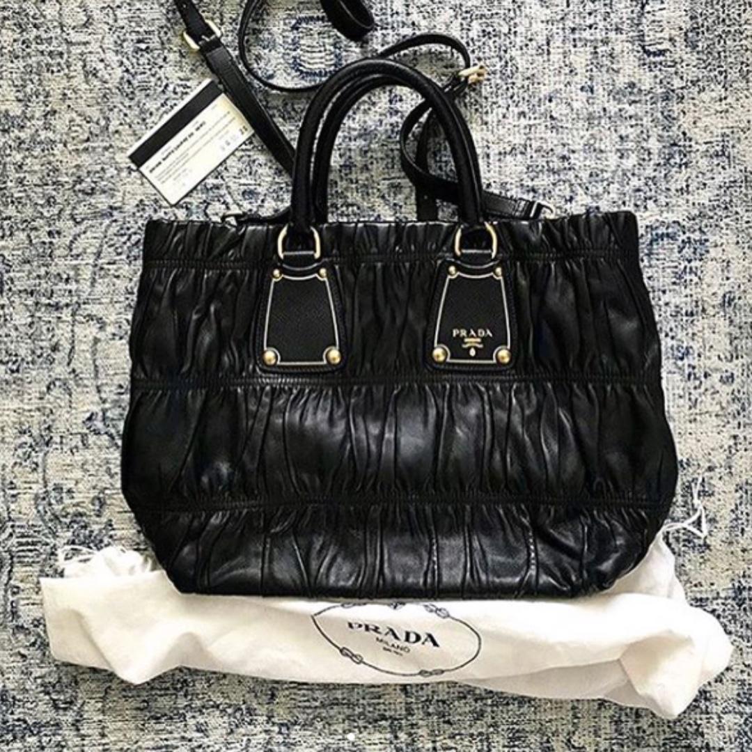 744ef0baf3a4 Prada tessuto Gaufre all leather, Women's Fashion, Bags & Wallets on ...