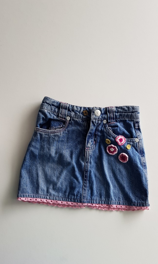 2a91e8b433 Preloved Poney Denim Skirt for toddler, Babies & Kids, Girls ...
