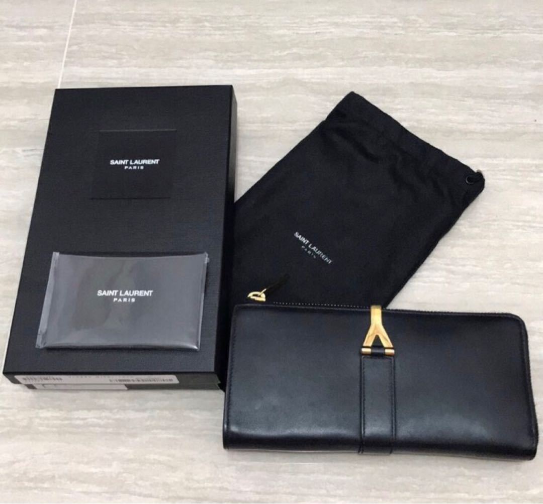 6bebf9265ab Saint Laurent Classic Y Zip Around Wallet, Luxury, Bags & Wallets, Wallets  on Carousell