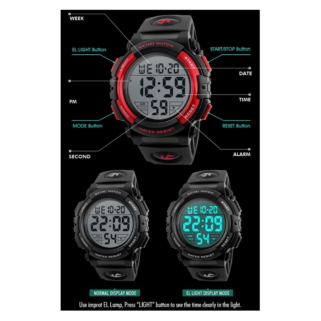 f98af557b SKMEI 1258 W.Pierce New Sports Watches Men Outdoor Fashion Digital Watch  Multifunction 50M Waterproof Wristwatches Man Relogio Masculino 1258 Casio,Zoo  York ...