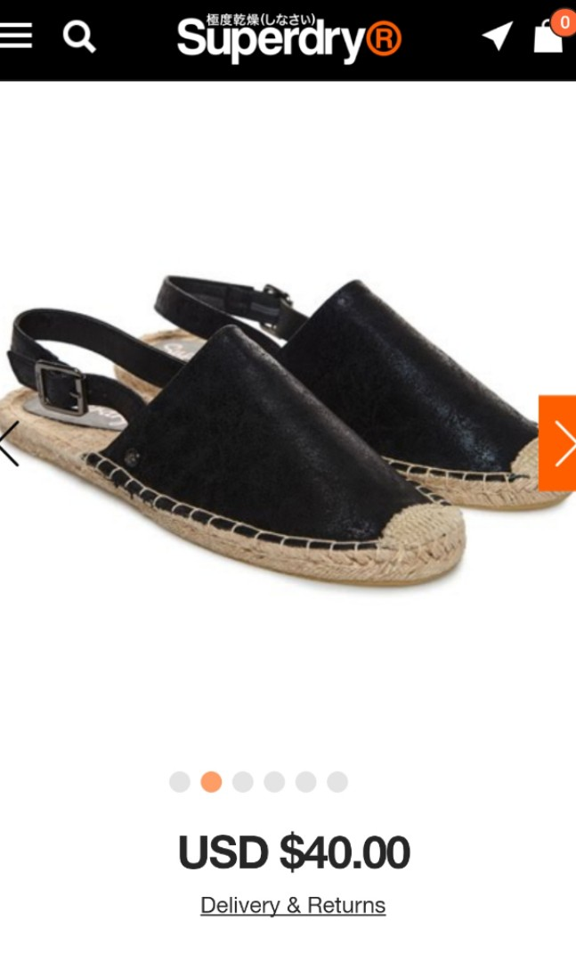 4c820ff869 Brand New Superdry women's Evelyn Espadrilles in black shimmer colour,  Women's Fashion, Shoes, Flats & Sandals on Carousell
