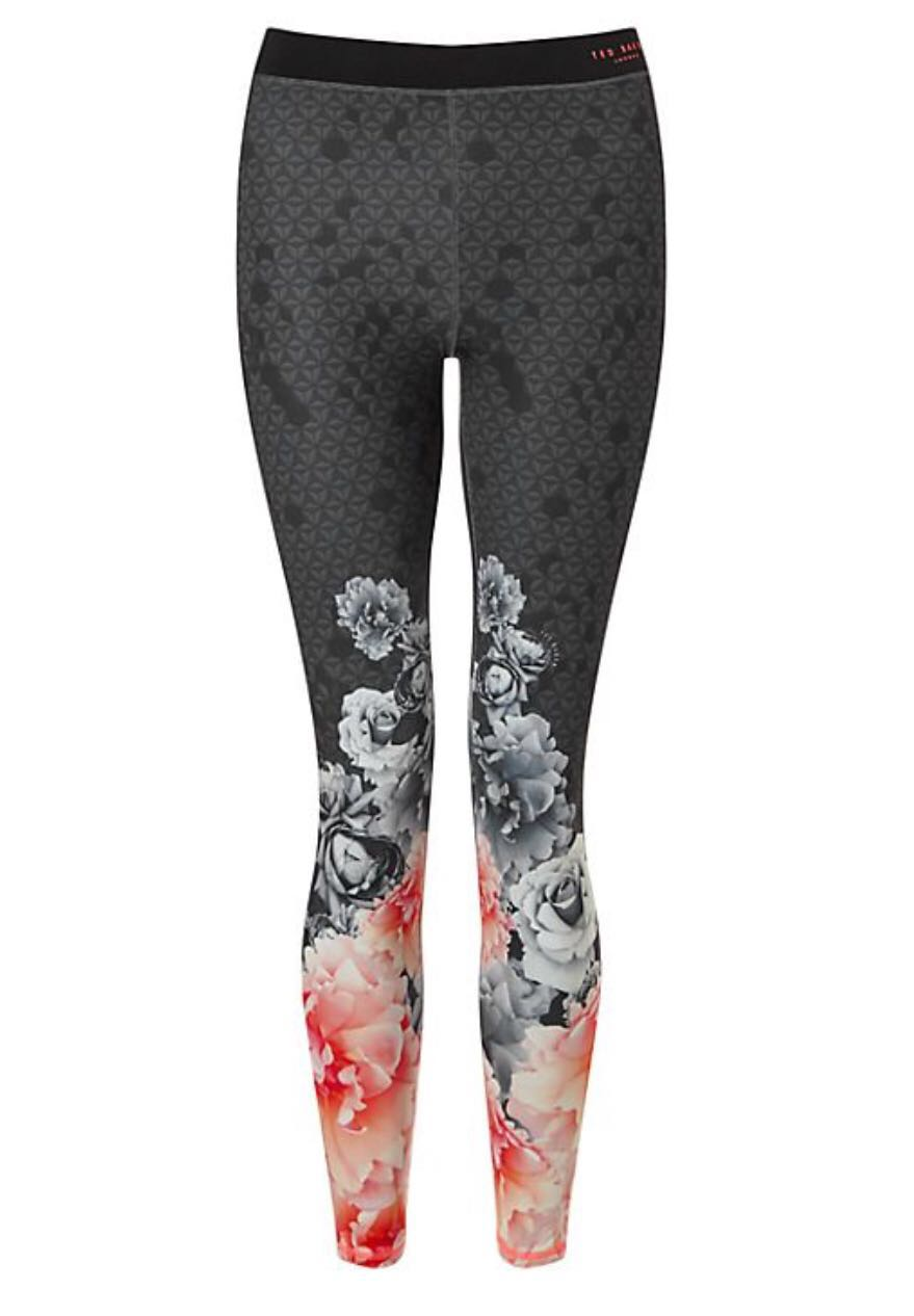 090df05ba Ted Baker floral print leggings yoga exercise pants MONOROSE XS not ...