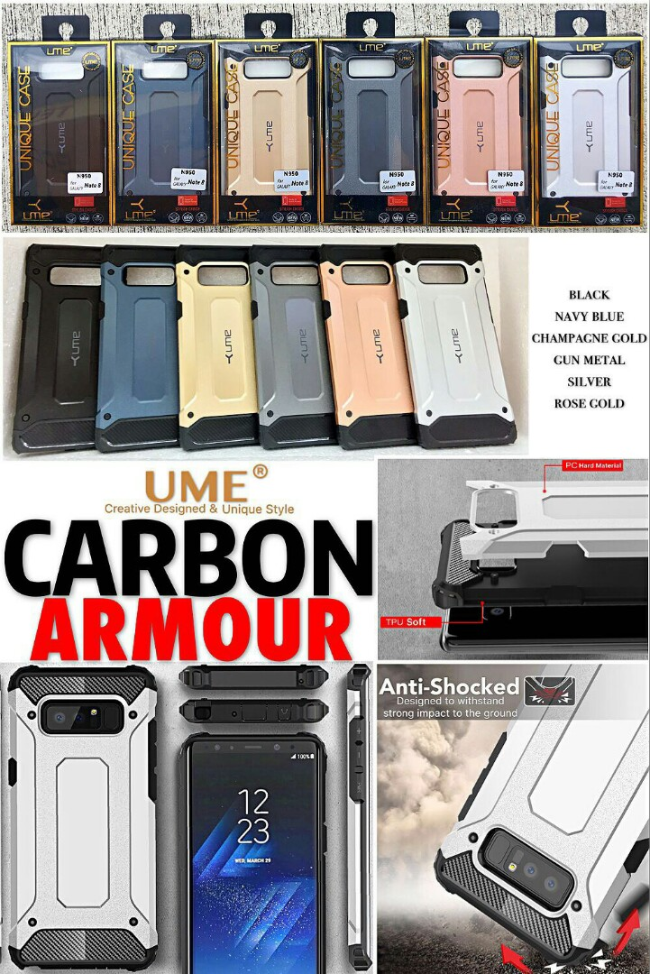 UME Carbon Armour Case, Mobile Phones & Tablets, Mobile & Tablet Accessories, Mobile Accessories on Carousell