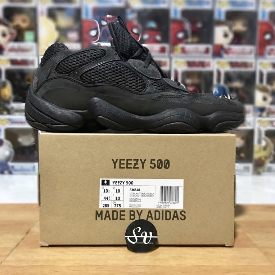 6708cee6999 US 10 - Adidas Originals Yeezy Boost 500 Utility Black By Kanye West ...