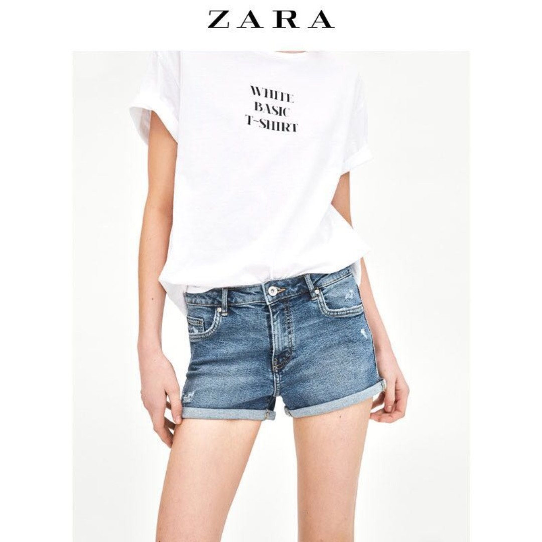 5b624d9d Zara Denim Shorts - Size 34 / UK 6, Women's Fashion, Clothes, Pants, Jeans  & Shorts on Carousell
