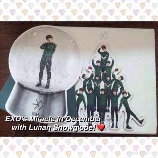 EXO Miracles in December (Korean Ver.) Album with Luhan Snowglobe // Photocard PC