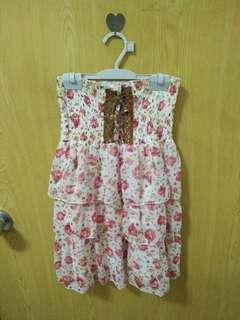 🚚 💓一件40三件100💓碎花平口綁帶洋裝