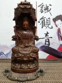 老黄楊木木雕觀音佛像