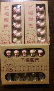 🚚 五福臨門小豬湯匙,筷子組