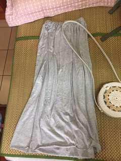 🚚 正韓灰色棉質長裙