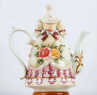 Victorian Dress Tea Pot