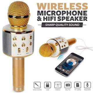 KTV Microphone W/ In-Built Speaker - With Song Vocal Removal Feature!