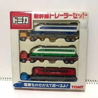tomy japan long tomica box set 套裝 新幹線 長車 貨櫃車 拖車 日本制