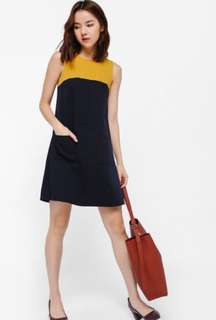 Love Bonito Ditiona Colourblock Grommet back dress XS