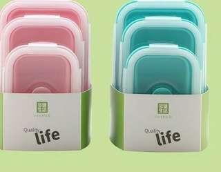 可適用於冰箱、微波爐、洗碗機。一套三件