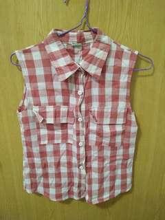 🚚 💓一件40三件100💓紅白格子襯衫背心