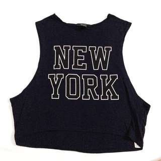 F21 cropped muscle tee