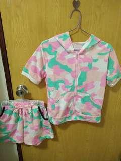 🚚 粉色迷彩休閒套裝