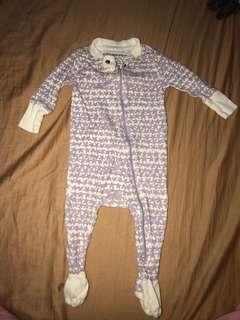 Burt's Bees Organic Baby Zip Up Footed Pajamas
